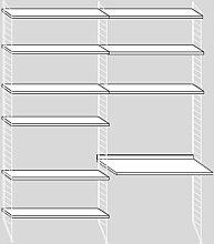 String Schrank Mit Tisch Medium Weiß (b) 160 X (t) 58 X (h) 200 Cm