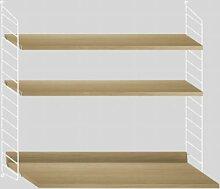 String Wandregal Mit Tisch Small Weiß/Eiche (b) 60.00 X (t) 58.00 X (h) 75.00 Cm