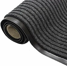 Stripe Design Läufer Teppich for Flur Grau