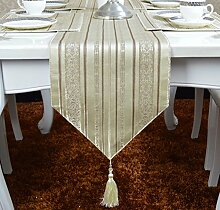 Stripe Tischläufer Tischdecke decke Tisch Bett Renner Tischdecke decke Tischdecke decke Abdeckung Tuch-A 33x240cm(13x94inch)