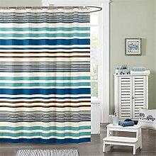 Striped Duschvorhang Wasserdicht Verdickung Polyester Duschvorhänge Badezimmer Trennvorhang Vorhänge ( größe : 180*180cm )