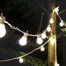strombetriebene Außen Party Lichterkette mit LEDs