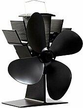Stromloser Ventilator für Holzöfen Kamin Öfen mit 4 Flügel , Kaminöfen Ventilator, EcoFan, HV-09