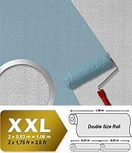 Struktur Tapete EDEM 301-60 Textil Vliestapete zum Überstreichen mit Struktur grobe Leinenstoff Optik maler weiß 25 Meter | 26,50 qm