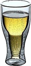 Strukturglas,doppelwandige Bierglas,Latte