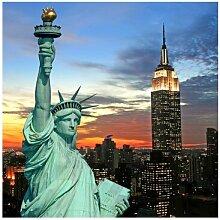 Strukturierte Fototapete New York bei Nacht