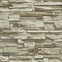Strukturierte Tapete Coleen 5,03 m x 52,07 cm