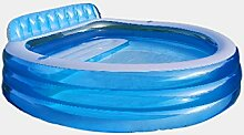 STS SUPPLIES LTD Sessel Aufblasbar Pool Planschbecken Familienpool Swimming Pool Schwimmbecken Kinder Blau Baby Garten Balkon Rund Terasse &E Book
