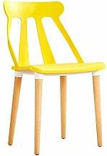 Studie schreibtisch stuhl Haushalt Kreative Modernen minimalistischen Büro computer hocker sessel erwachsenen Esszimmerstuhl ( Farbe : Gelb )