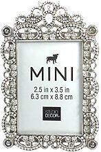 Studio Decor Bejeweled Mini-Bilderrahmen, Metall,