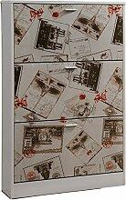 Studio Decor Europa Schuhregal Holz weiß