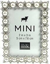 Studio Decor Mini-Bilderrahmen, Perlenimitat,