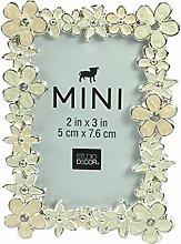 Studio Decor Mini Floral Bilderrahmen mit cremig