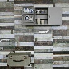 Studio Ditte Altholz Tapete Schwarz-weiß (l) 900.00 X (b) 48.50 Cm