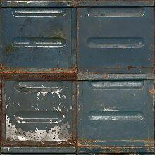 Studio Ditte Metallbehälter Tapete Dunkel (l) 600