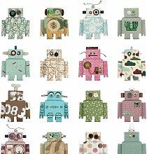 Studio Ditte Roboter  Tapete (l) 600 X (b) 48.5 Cm