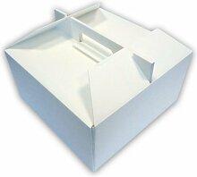 Stück 10Behälter Wärme cm 27x 27cm hoch 14-Becher von Kuchen Eis und Kuchen aus Polystyrol stapelbar Cake Box Kiste Wärme
