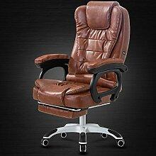 Stühle Bürostuhl Liegesessel Sessellift Fußstütze Mittagspause Sitz Massage Computer (zwei Arten, mehrfarbig optional) (Farbe : D-2)