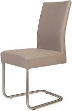 Stühle in Beige Kunstleder Freischwinger Gestell