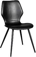 Stühle in Schwarz Kunstleder Retro Look (2er Set)