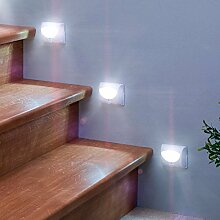 Stufen-Sensorleuchte Bewegungsmelderleuchte Treppenleuchte Stufenstrahler LED Strahler Treppenstufenbeleuchtung Wegbeleuchtung