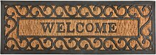 Stufenmatte, Fußmatte Welcome 75x25cm Kokos +