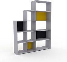 Stufenregal Graphitgrau - Modernes Treppenregal