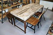 STUFF Loft Vintage Esstisch aus Altholz gewachst