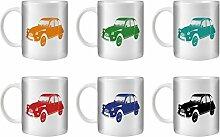 STUFF4 Tee/Kaffee Becher 350ml/6 Pack/Citroën 2CV/Weißkeramik/ST10