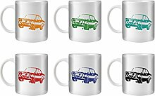 STUFF4 Tee/Kaffee Becher 350ml/6 Pack/Escort RS1600 Mk1/Weißkeramik/ST10