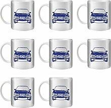 STUFF4 Tee/Kaffee Becher 350ml/8 Pack Blau/M5 E39/Weißkeramik/ST10