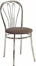 Stuhl 'Falun' Esszimmerstuhl Küchenstuhl, Farbe:Braun