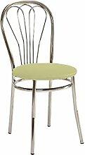 Stuhl 'Falun' Esszimmerstuhl Küchenstuhl, Farbe:Creme