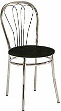 Stuhl 'Falun' Esszimmerstuhl Küchenstuhl, Farbe:Schwarz