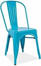 Stuhl 'Roosendaal' Esszimmerstuhl Küchenstuhl, Farbe:Blau