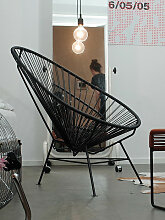 Stuhl Acapulco Chair Acapulco Design schwarz,