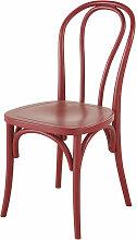 Stuhl aus Buchenholz, rot Troquet