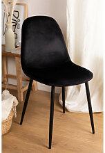 Stuhl aus Samt Glamm Schwarz & Schwarz Sklum