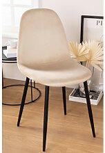 Stuhl aus Samt Glamm Weizen & Schwarz Sklum