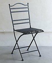 Stuhl aus Schmiedeeisen schwarz
