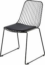 Stuhl aus schwarzem Metall mit schwarzem