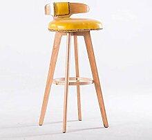 Stuhl Barhocker Drehstuhl aus Massivem Holz,