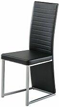 Stuhl BAROLO - schwarz - Kunstleder