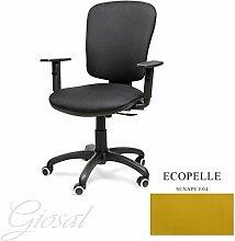 Stuhl BELLA Schulter Hohe Sessel drehbar Kunstleder Operative Studie Büro verschiedenen Farben giosal Senf