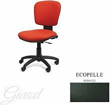Stuhl BELLA Schulter niedriger Sessel drehbar Kunstleder Operative Studie Büro verschiedenen Farben giosal schwarz