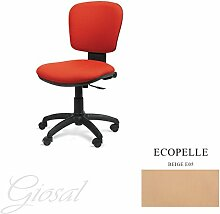 Stuhl BELLA Schulter niedriger Sessel drehbar Kunstleder Operative Studie Büro verschiedenen Farben giosal beige