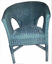 """Stuhl blau Rattansessel Korbsessel Rattan Sessel Stuhl Stühle Korbstuhl """" Der Klassiker """" hell blau"""