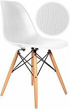 Stuhl DSW Holzeffekt-Weiß