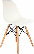 Stuhl DSW- Weiß, naturfarben