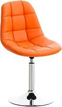 Stuhl Emil Kunstleder-orange